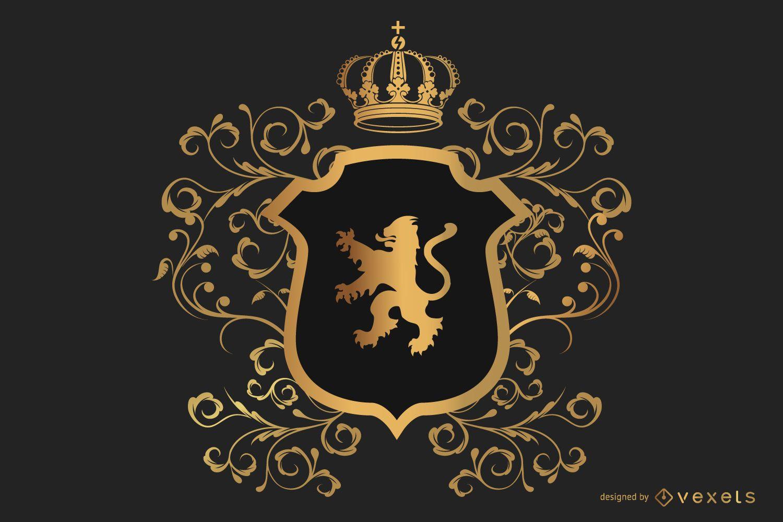 Kreativer königlicher heraldischer Schild