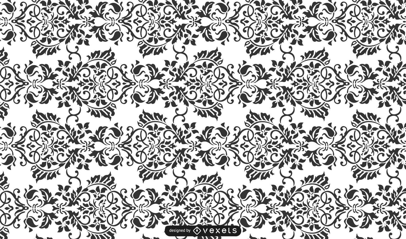 Seamless Damask Ornamental Pattern