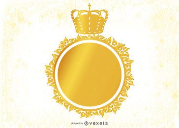 Emblema decorativo heráldico vintage