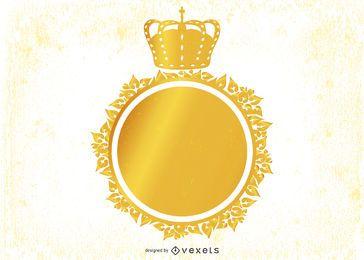 Heraldisches dekoratives Weinlese-Emblem