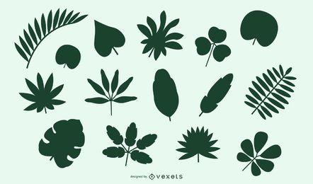Natürliche Blätter und Büsche Pack