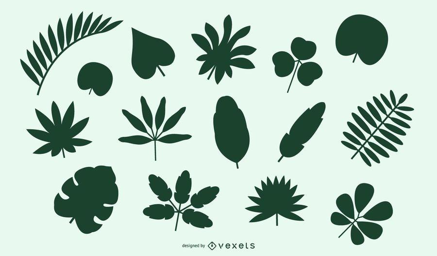 Pacote Natural de Folhas e Arbustos