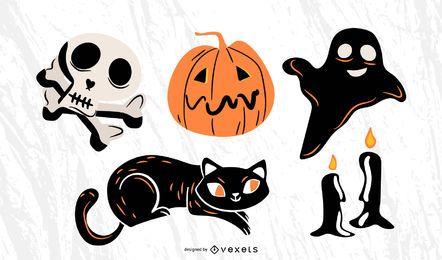 Elementos de Halloween de miedo
