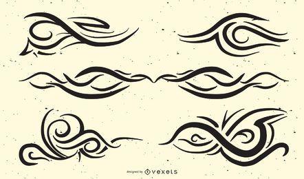 Pacote De Tatuagem Tribal Elegante
