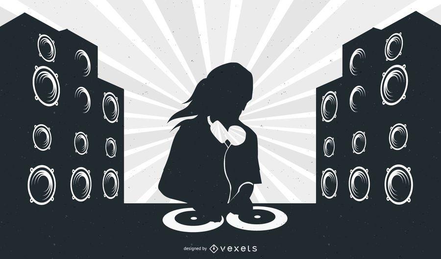 Layout Musical com DJ Girl