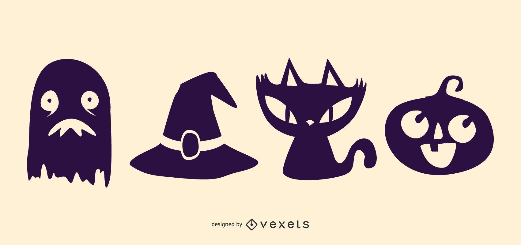 Conjunto de iconos de Halloween Funky