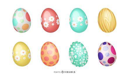 Colorido paquete de huevos de pascua
