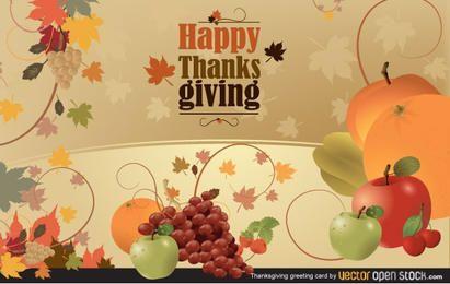 Cartão de Ação de Graças