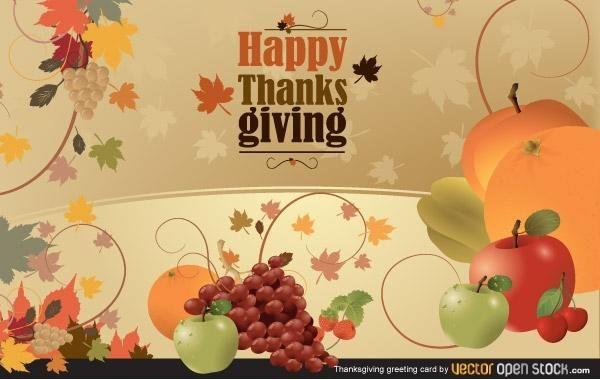 Tarjeta de felicitación de acción de gracias
