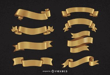 Paquete de cinta dorada decorativa