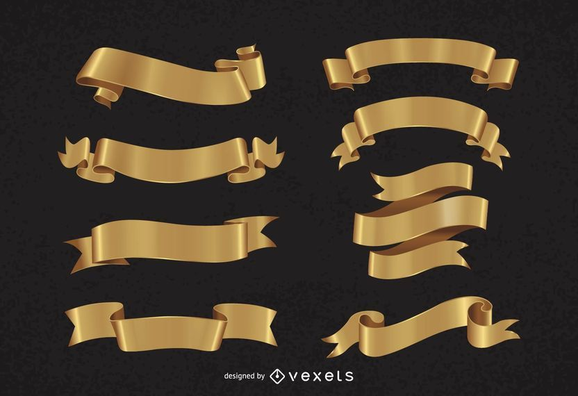 Pacote Decorativo de Fita Dourada