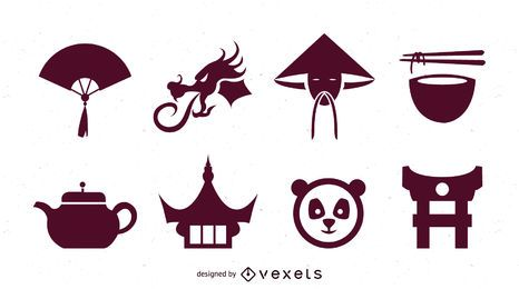China Sing & Symbol Pack Silhueta