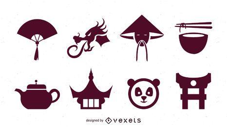 China Sing & Symbol Pack Silueta