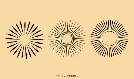 Rayo de rayos solares