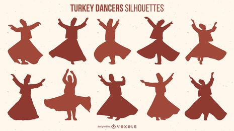 Turkey Dancers Silhouette pack