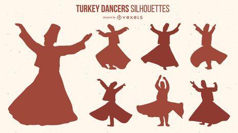 Türkei Tänzer Pack Silhouette