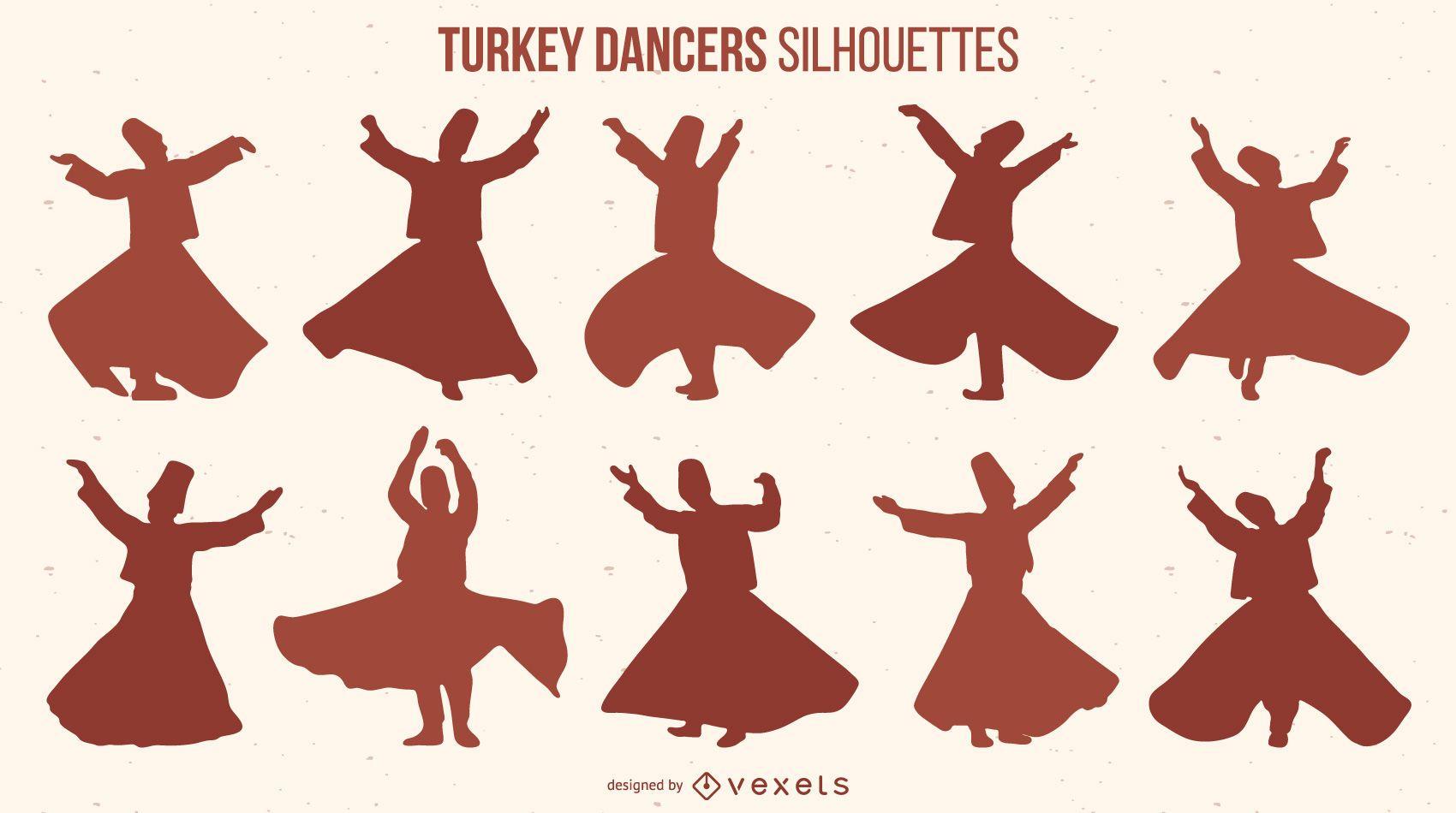 Turkey Dancers Silhouette pack