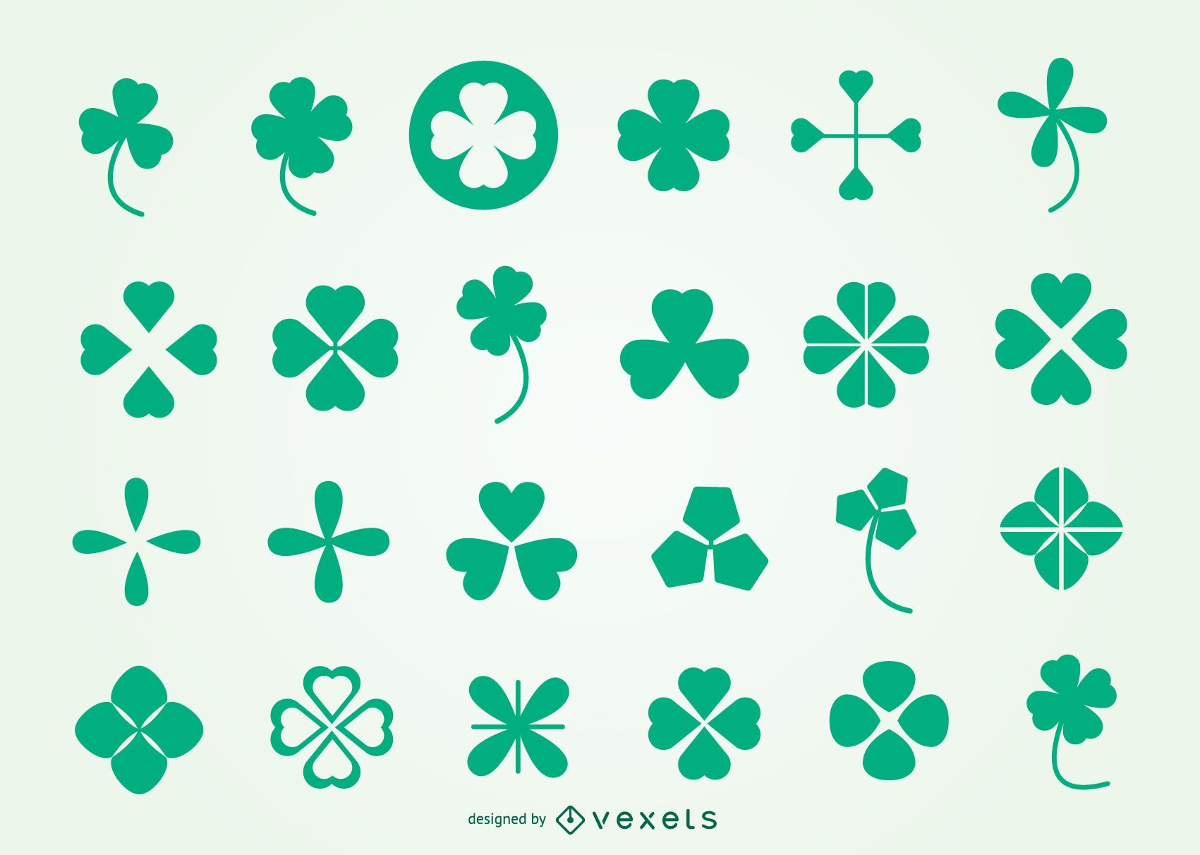 Trefoil symbol pack for saint patrick day vector download image user biocorpaavc