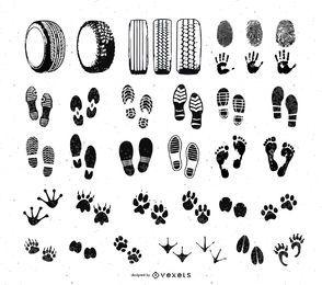 Fuß- und Autorad-Schrittdruckset