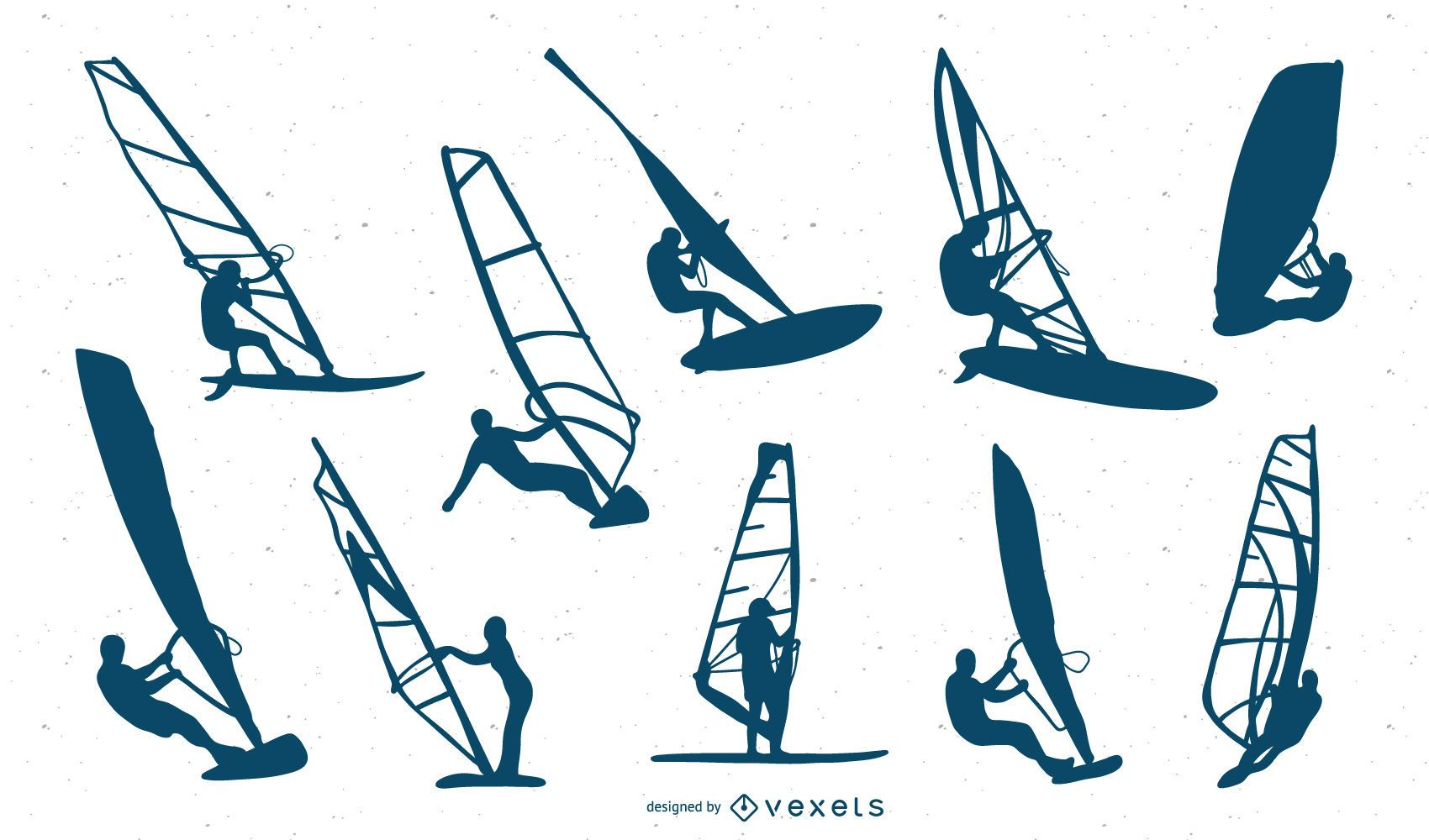 Windsurfing Pack Silhouette