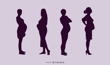 Pregnant Ladies Pack Silhouette