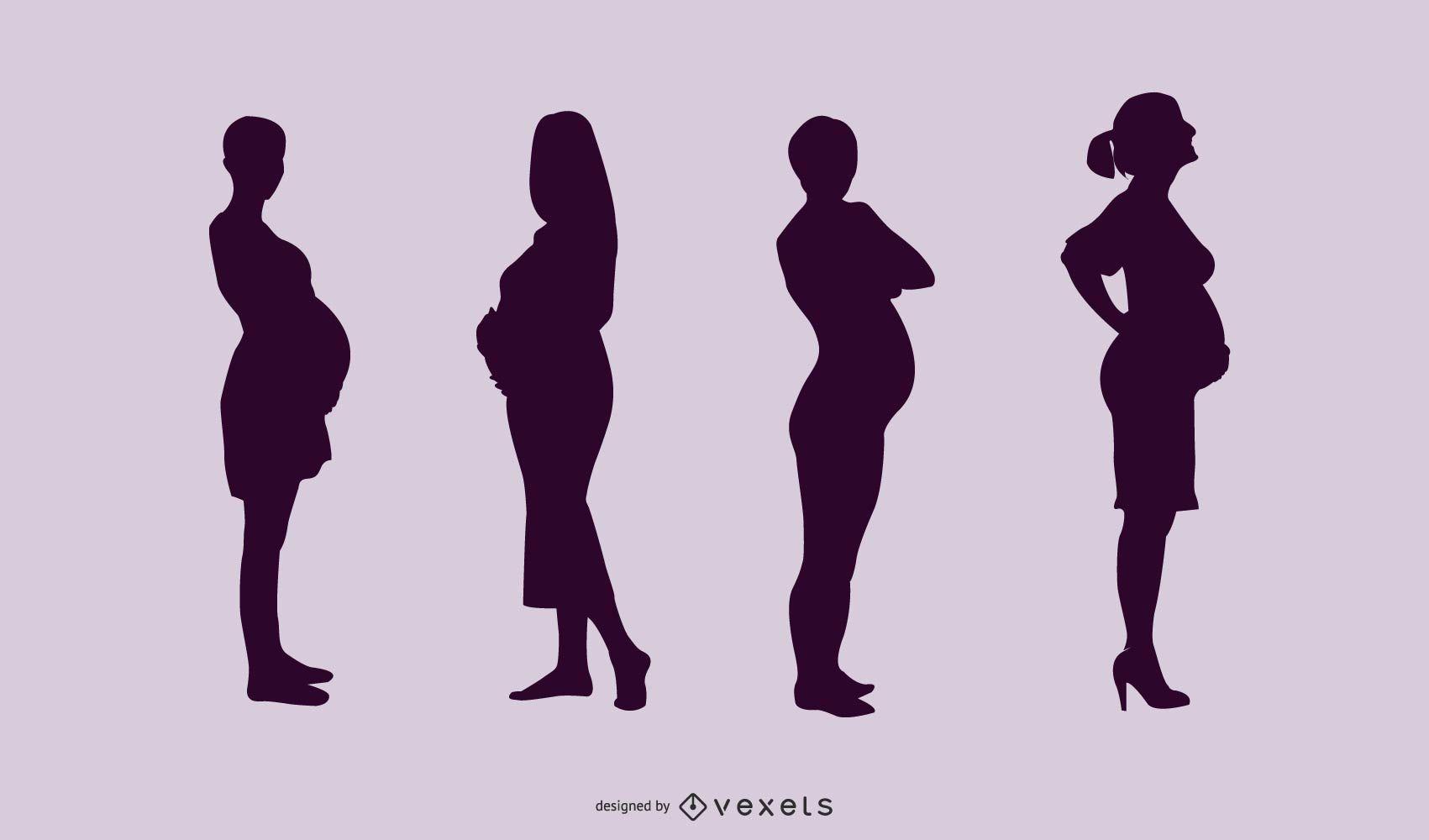 Pregnant Ladies Pack Silhouette