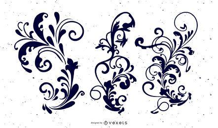 Ornamentos decorativos com variação de contorno