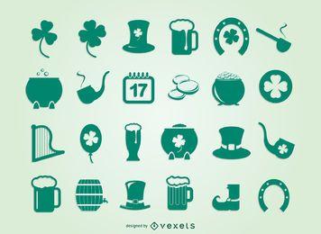 Pacote de símbolos da festa de São Patrício