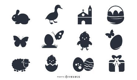 Ostern Symbol Pack Silhouette