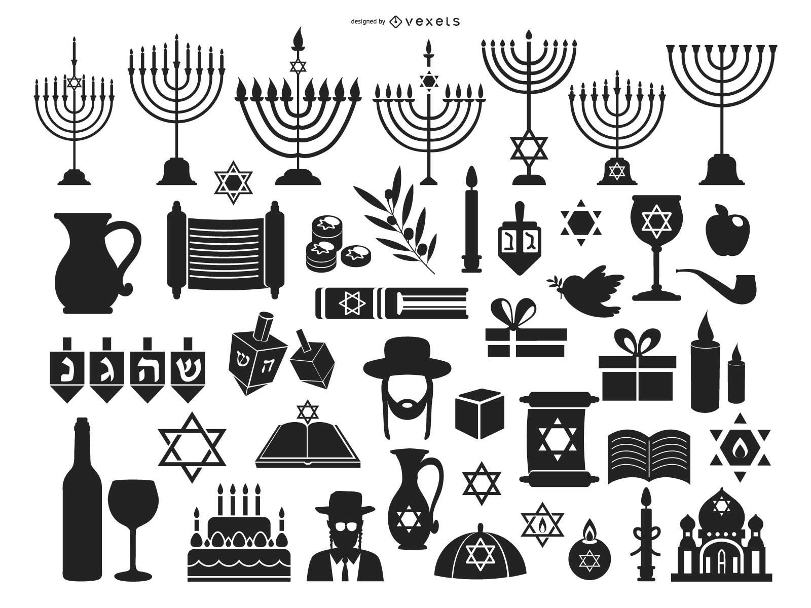 Symbol Pack for Happy Hanukkah