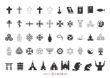 Religion Symbol Pack Silhouette