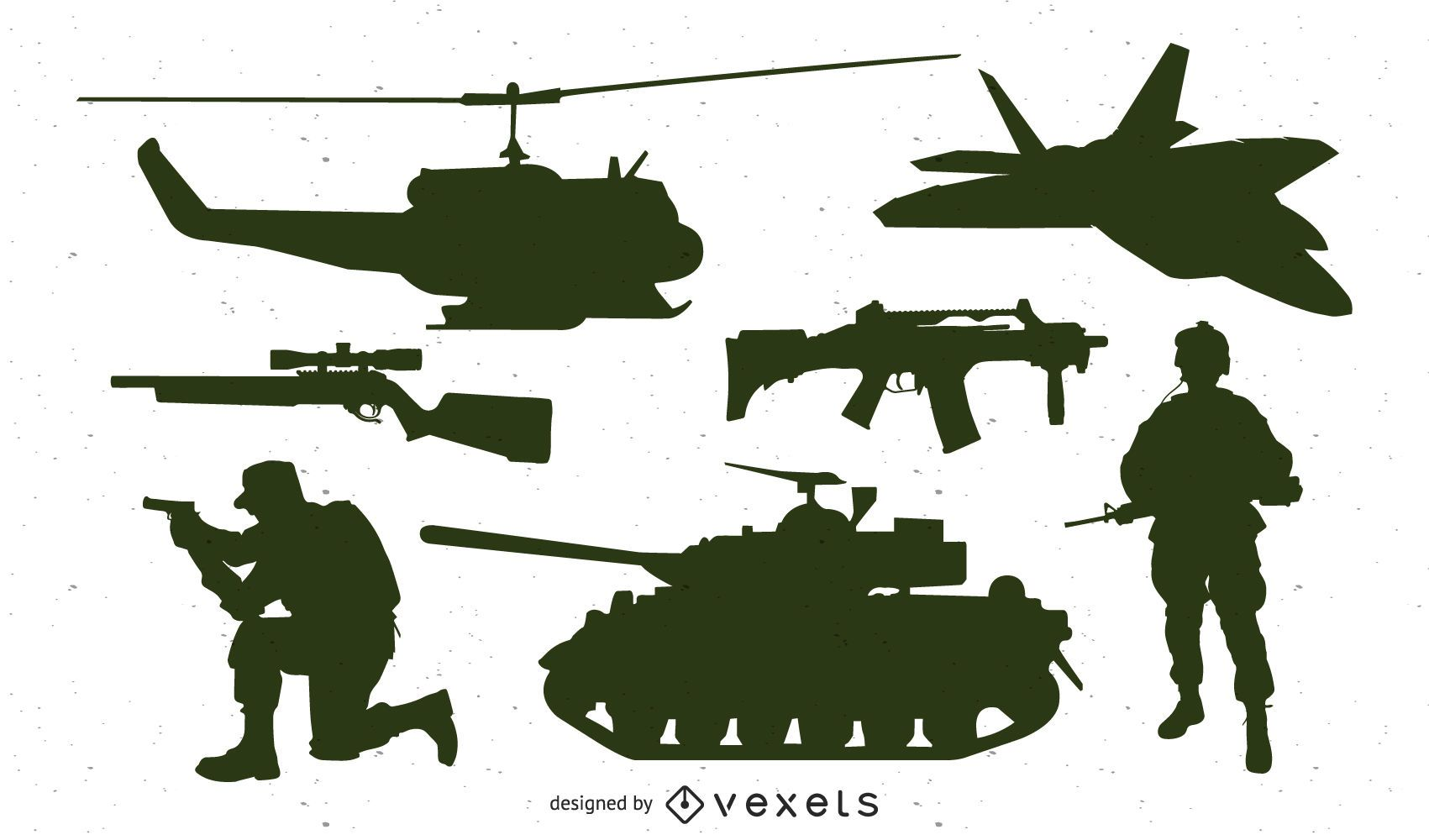 Paquete de silueta de unidades militares