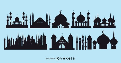 Paquete Mezquita Islámica Silueta