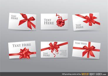 Conjunto de tarjetas de felicitación de regalo