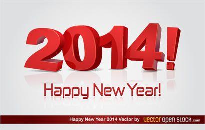 3D feliz año nuevo 2014