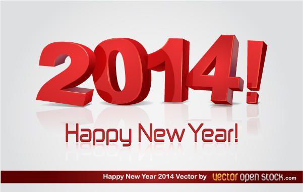 3D frohes neues Jahr 2014