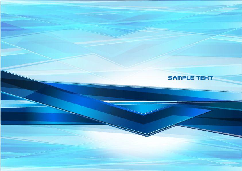 Abstract futuristic geometric blue background