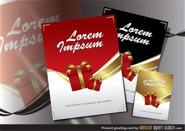Presente tarjeta de felicitación
