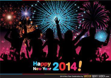 2014 celebración del año nuevo