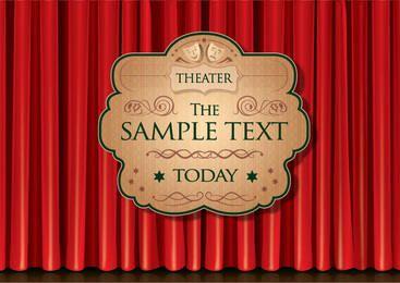 Cartel de cortina de teatro