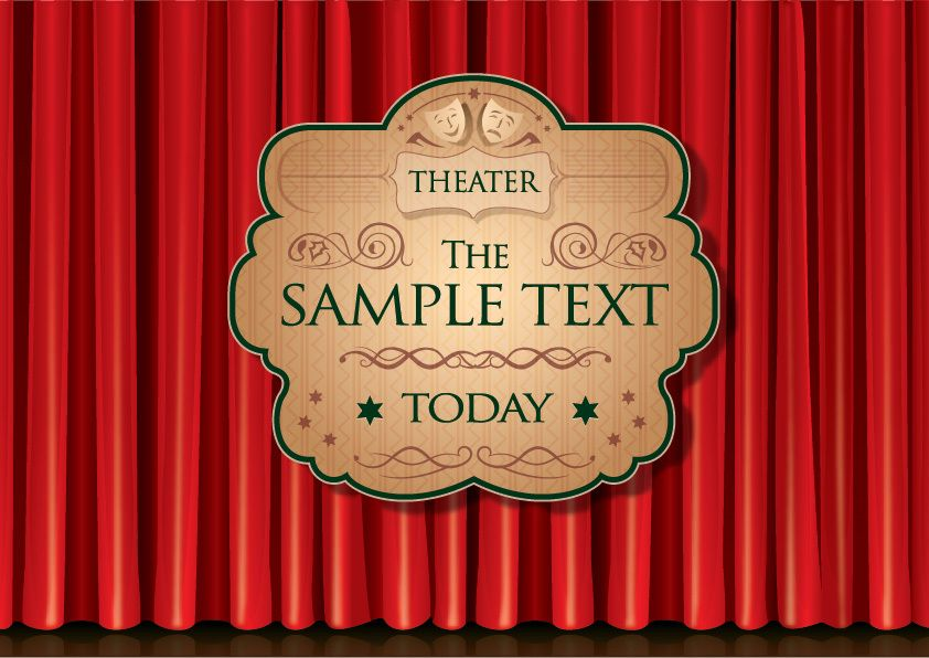 Theater Curtain Poster