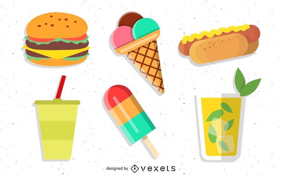Funky saborosos alimentos de verão