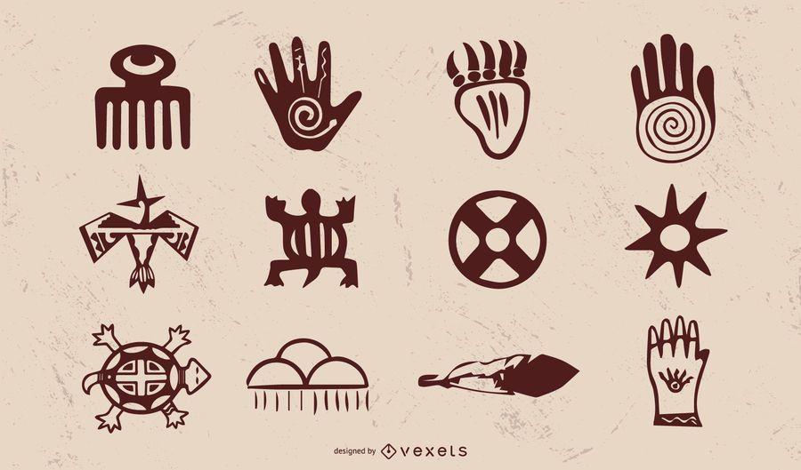 Pacote de objetos vintage nativo americano