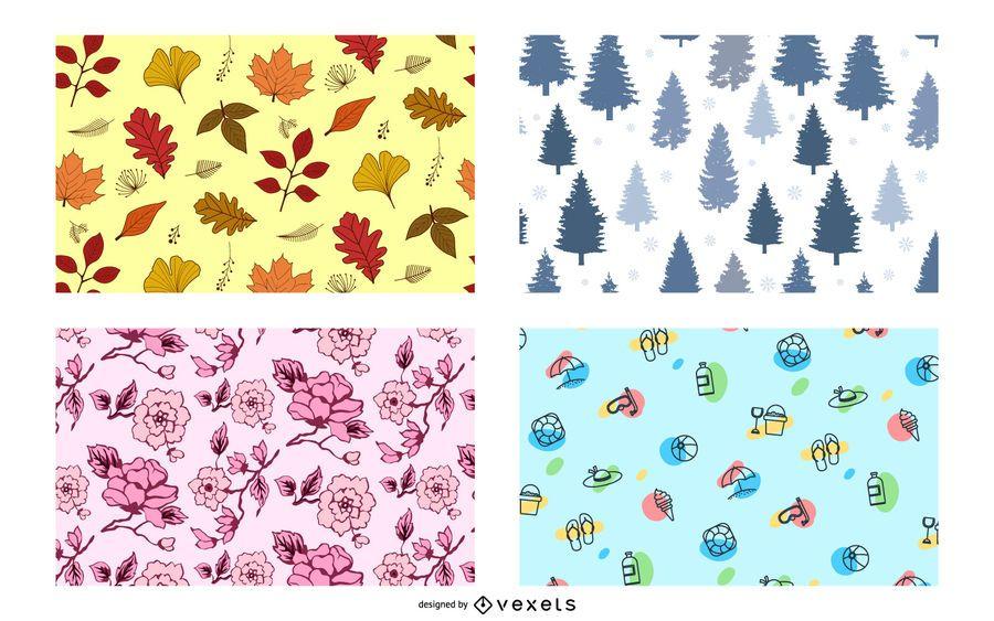 Four Seasons Pattern Design Set