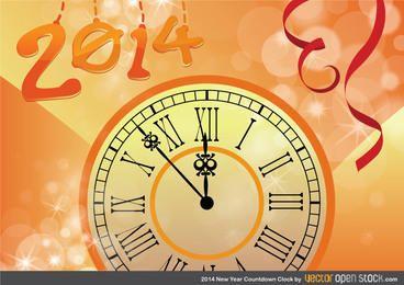 Countdown-Uhr für das neue Jahr 2014