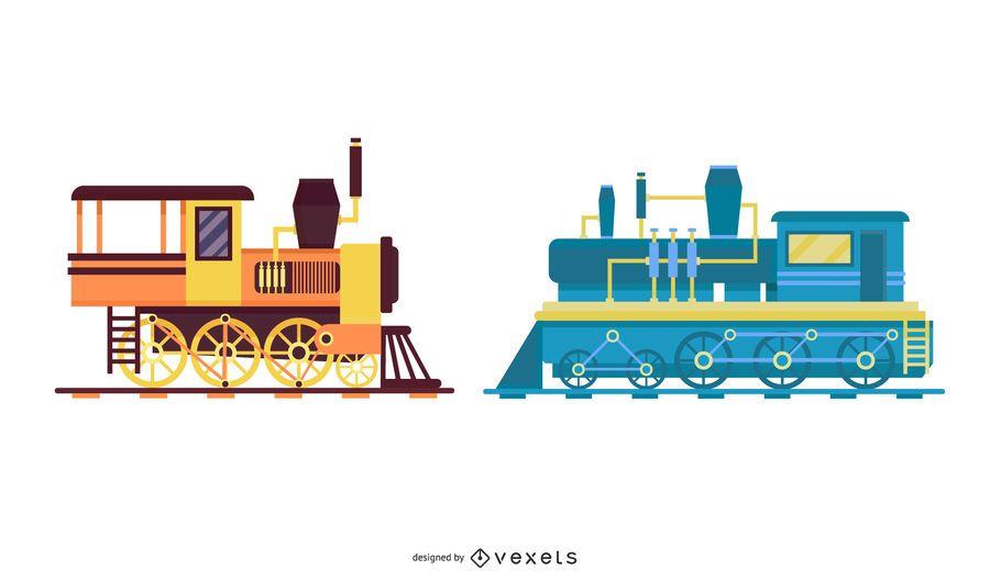 Pacote de trem vintage sujo