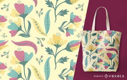 Patrón floral verano detallado