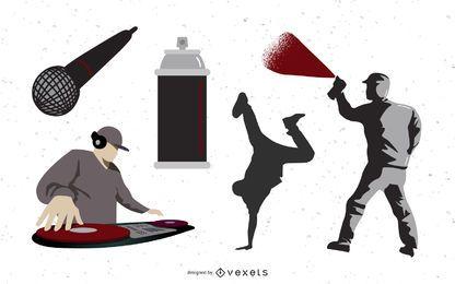 Cosas de música urbana de hip hop