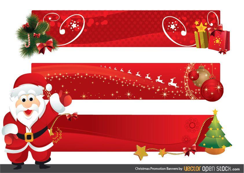 Banners de promoción navideña
