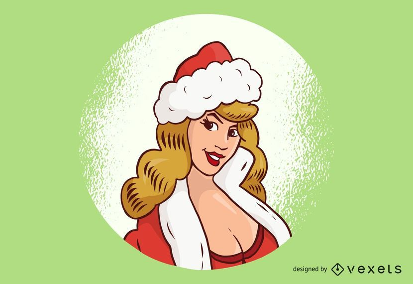 Sexy Face of Santa Girl